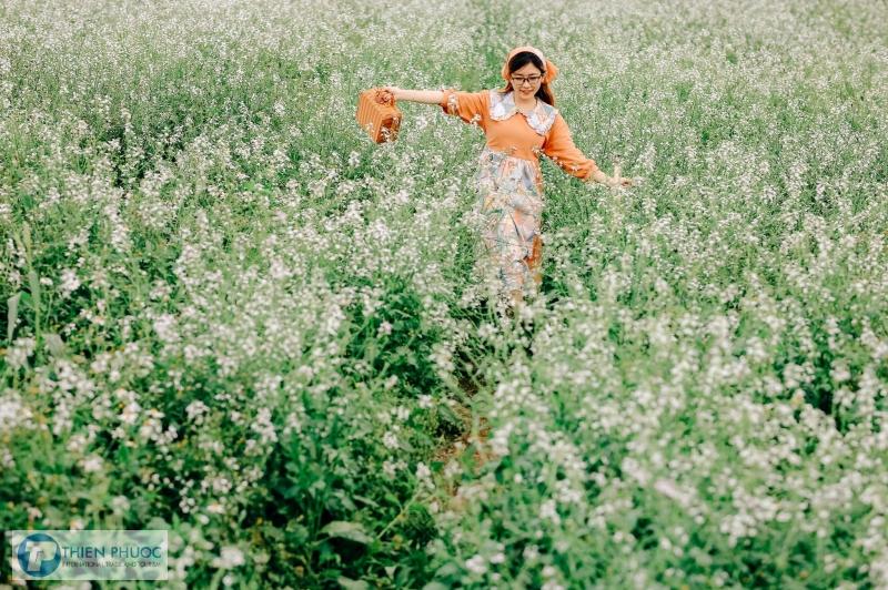 Vẻ đẹp mê mẩn của cánh đồng hoa cải trắng trong chuyến du lịch Đà Lạt
